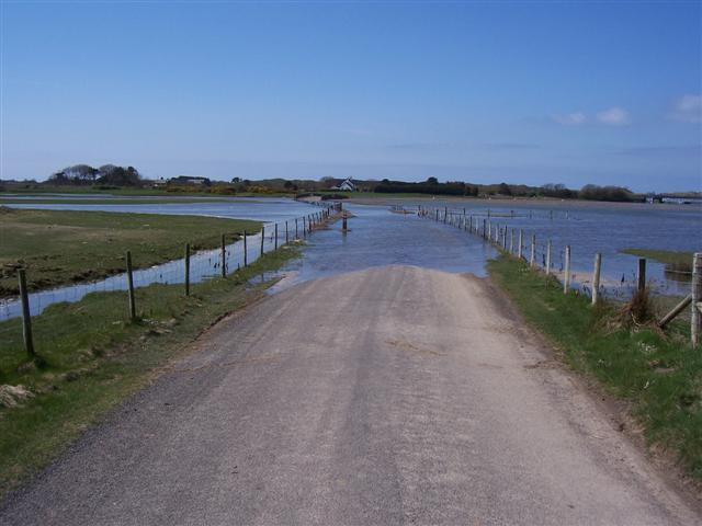 The road at High Tide