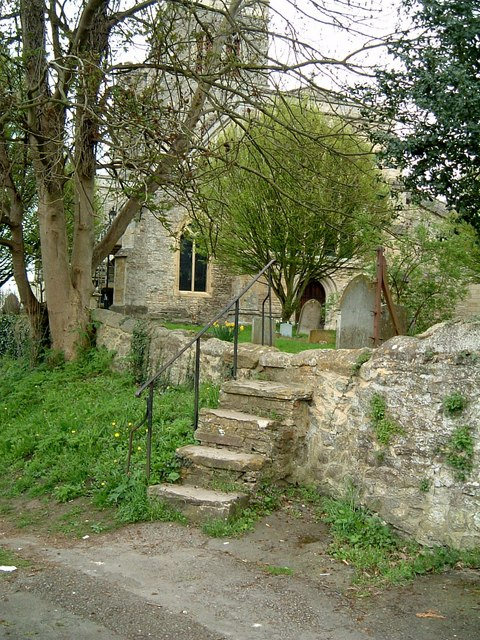 Stone steps, St. Mary's, Thame