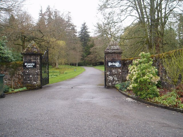 Entrance to Grandtully Castle
