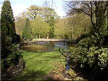 SE1025 : Pond in Shibden Hall garden, Southowram, Halifax by Humphrey Bolton