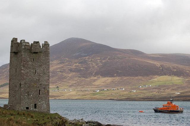 Carrickkildavnet Castle, Achill Sound