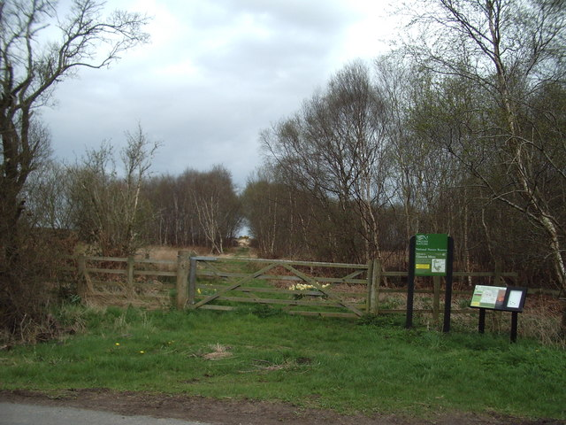 Entrance to Glasson Moss (National Nature Reserve)