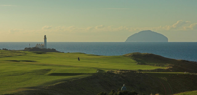 Turnberry  Golf Course, Lighthouse and Ailsa Craig