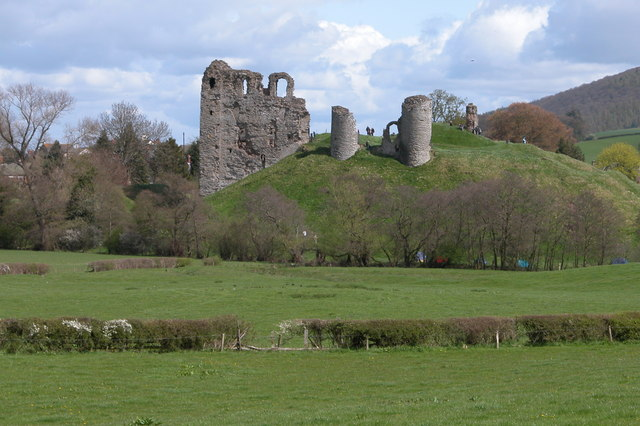 Clun Castle viewed from the west