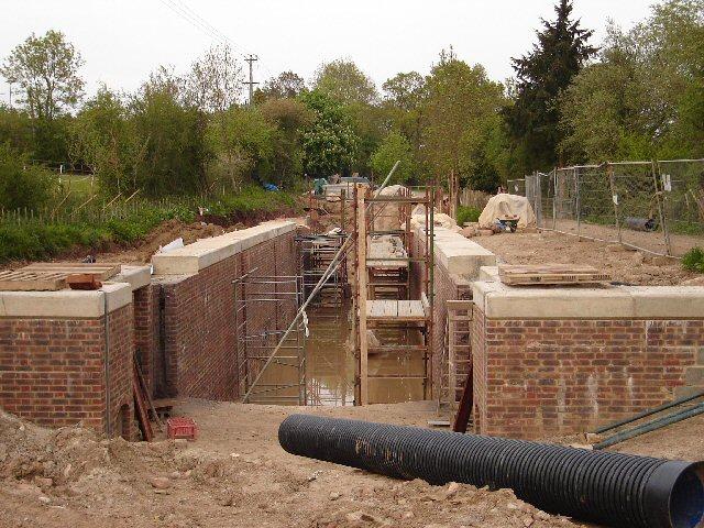 Loxwood Lock under construction