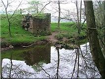NZ8204 : River Murk Esk and Remains of Bridge by Mick Garratt