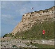 TQ7507 : Galley hill cliff face by jacki eldridge