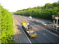 TL1302 : M25 Motorway from the Lye Lane overbridge near Junction 21a by Nigel Cox