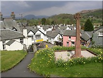 SD3598 : War Memorial in the churchyard, Hawkshead by Humphrey Bolton