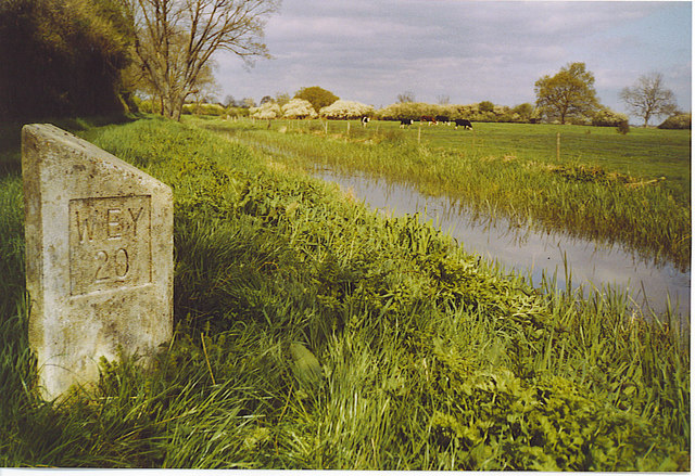 Canal Milestone on the Wey and Arun Canal