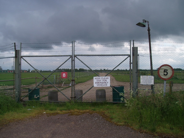 Back entrance to airfield