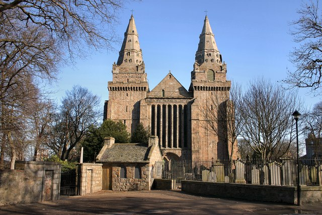 St Machar's cathedral with watch house