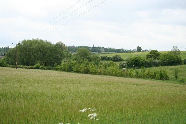 View across fields, Mount St Marys College