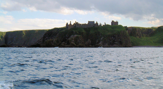Dunnottar Castle from the sea