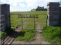 HY4951 : Gate to Holland Farm by Lis Burke