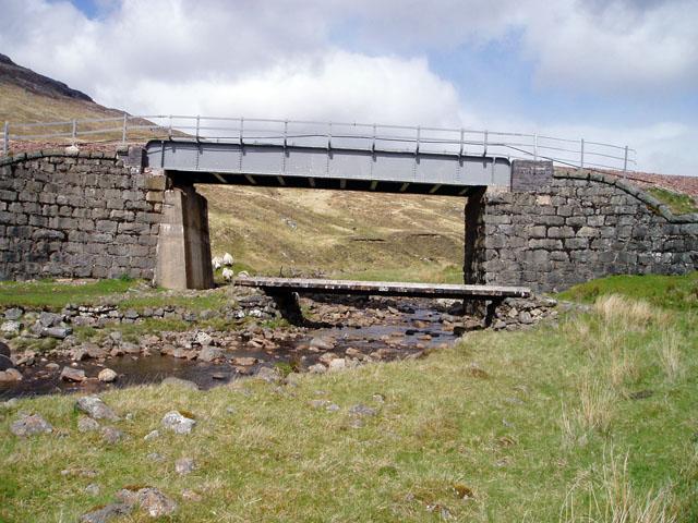 Rail and footpath bridges over the Allt Luib Ruairidh