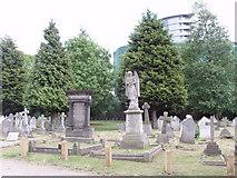 TQ2081 : Memorials in Acton Cemetery by David Hawgood