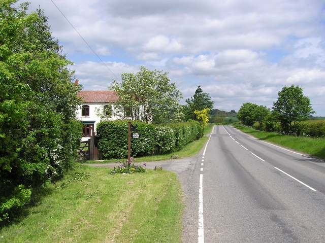 Looking north to Great  Stainton