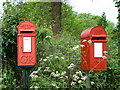 TM0580 : Postbox for letters and bird box by Keith Evans