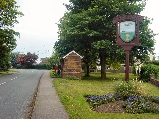 Entrance to Chedburgh village