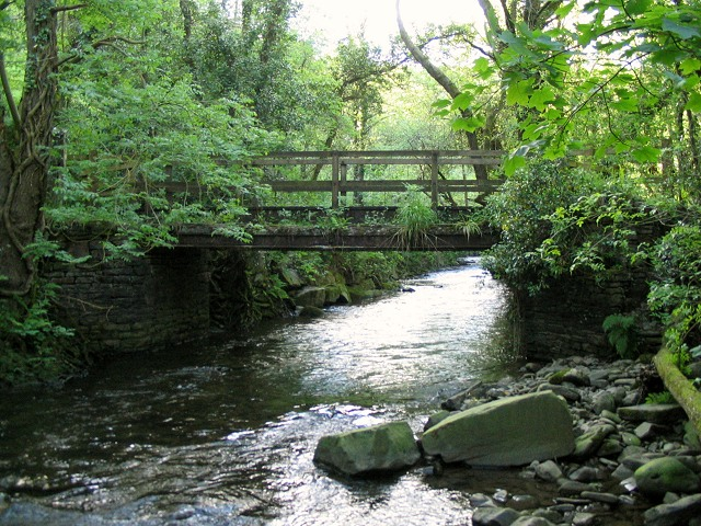 Footbridge over river Clydach