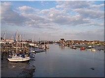 TQ2104 : River Adur from Shoreham Footbridge by Bob Embleton