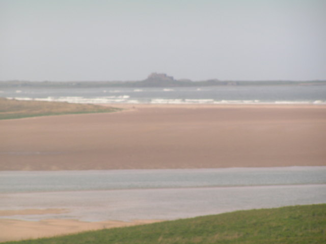 Budle Bay with Lindisfarne Castle in the background