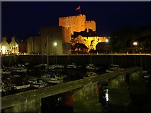 SC2667 : Castle Rushen at night, Castletown, Isle of Man by kevin rothwell