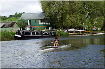 ST6966 : River Avon at Saltford by Pierre Terre