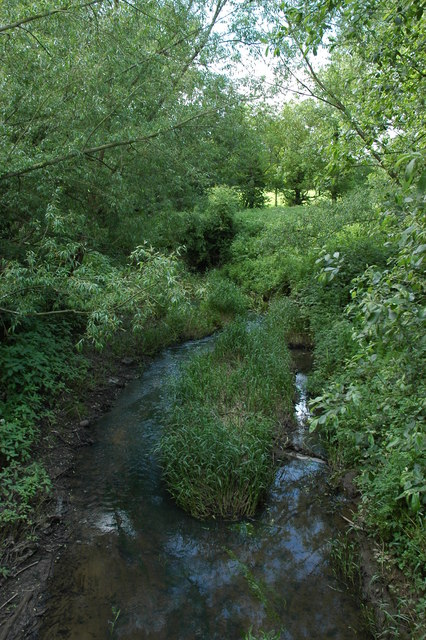 Small river that runs through Rye farm