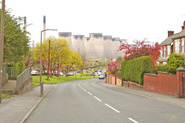 Ferrybridge village, Ferrybridge Power Station in the background
