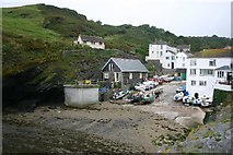SW9339 : Portloe slipway by Bob Jones