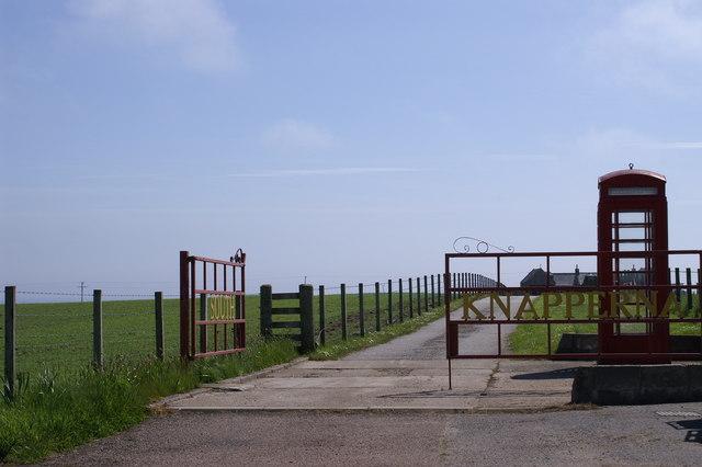 South Knapperna Farm Entrance