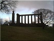 NT2674 : 'Edinburgh's Disgrace,' Calton Hill by Tim Hallam