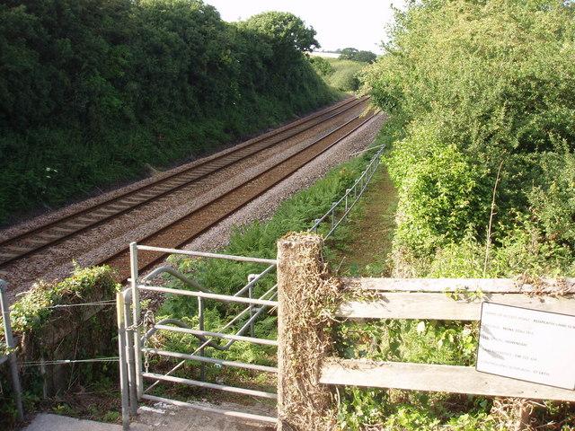 Railway line near Rospeath