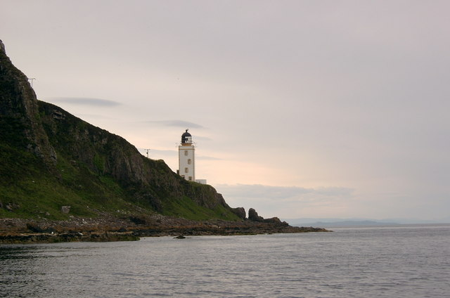 Firth of Clyde with view of Pillar Rock Lighthouse, Holy Island