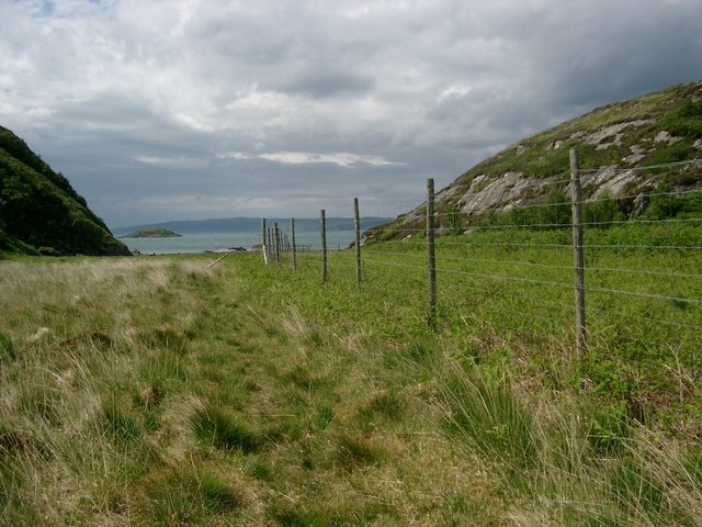 The low pass between Rubha Raonuill and Creagan Dearga