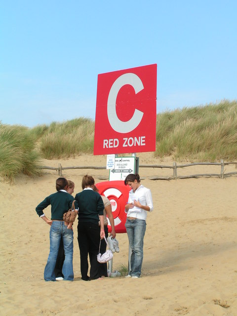 Collection point on the beach at Camber