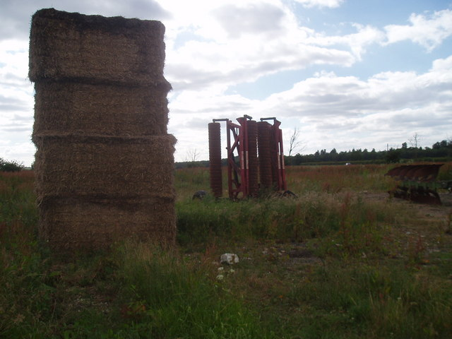 Straw bales and farming kit