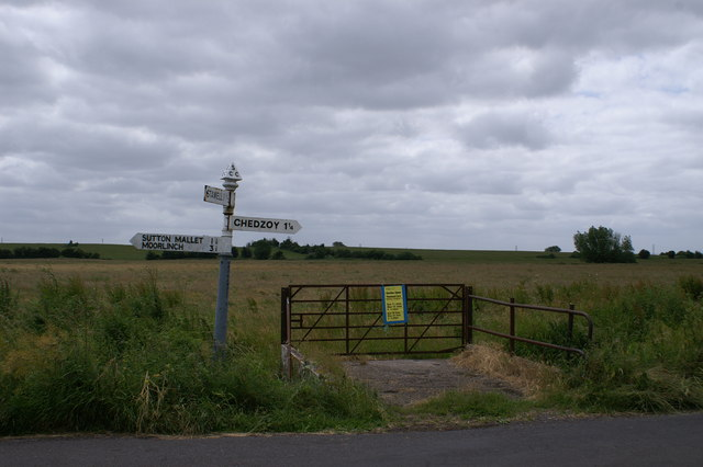 Signpost on West Moor