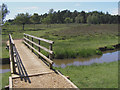 SU2503 : Footbridge over Ober Water, Ferny Knap, New Forest by Jim Champion