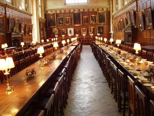 Hall interior, Christ Church, Oxford