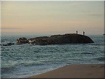 NC2165 : Sandwood Bay - Rocks at High Tide by Brian MacLennan