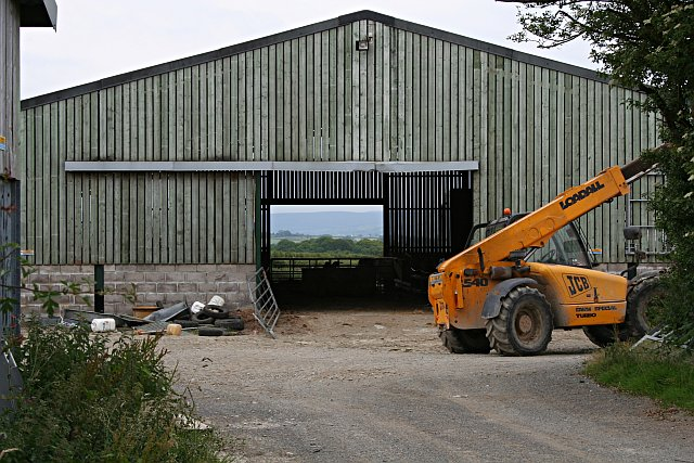Farmyard Buildings with a View of Dartmoor