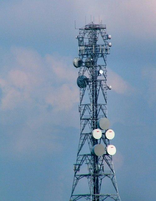 Radio mast on Bodmin Moor