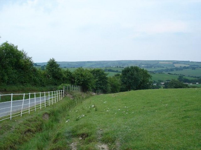 Lane and fields to Gwytherin