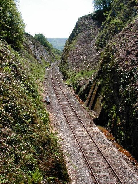 Railway Cutting at the summit of Talerddig bank