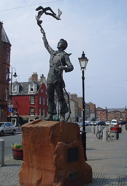 Statue of John Muir as a young boy