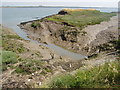 TQ9794 : Old sea wall, Wallasea Island by David Williams
