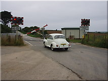 SW6138 : Gwinear Road level crossing by Sheila Russell